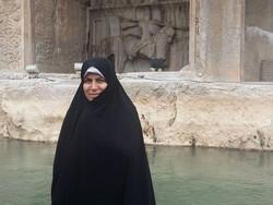 زهرا احمدی پور در طاقبستان کرمانشاه