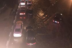 بارش باران و آبگرفتگی در معابر کرمانشاه