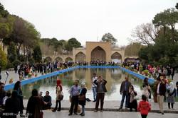 مسافران نوروزی در اصفهان