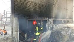 کمپ ترک اعتیاد زنان شهر اقبالیه قزوین در آتش سوخت