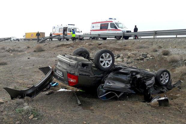 سوانح جادهای در شهرستان ساوه یک کشته و ۷مجروح برجای گذاشت
