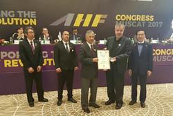 تقدیر فدراسیون هاکی آسیا از رئیس فدراسیون ایران