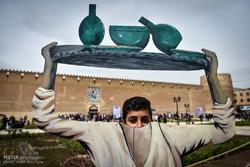 سەردانی گەشتیارانی نەورۆزی لە قەڵای کەریم خانی شیراز