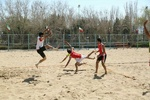 Beach handball team advance to semifinals