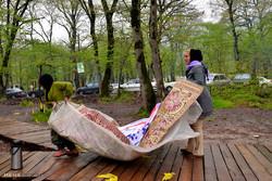 تلاش جوانان هلال احمر برای حفظ محیط زیست در روز طبیعت