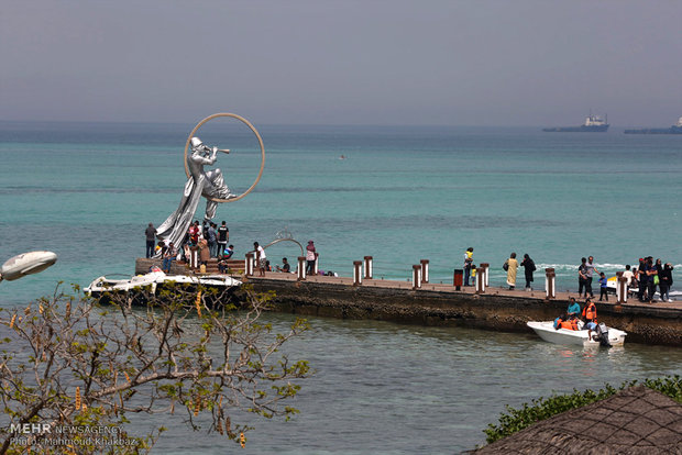 Kish Island in Nature Day