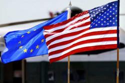 پرچم آمریکا و اتحادیه اروپا