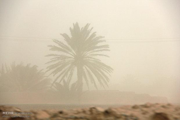 طوفان شن در شهرستان فهرج کرمان