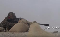 İşgalci Suudi askerinin vurulduğu an