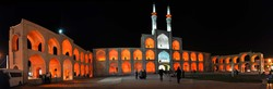 A file photo shows people visiting the three-story Amir Chakhmaq Complex in Yazd, central Iran.