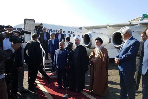 فرودگاه سمنان با حضور رئیس جمهور افتتاح شد