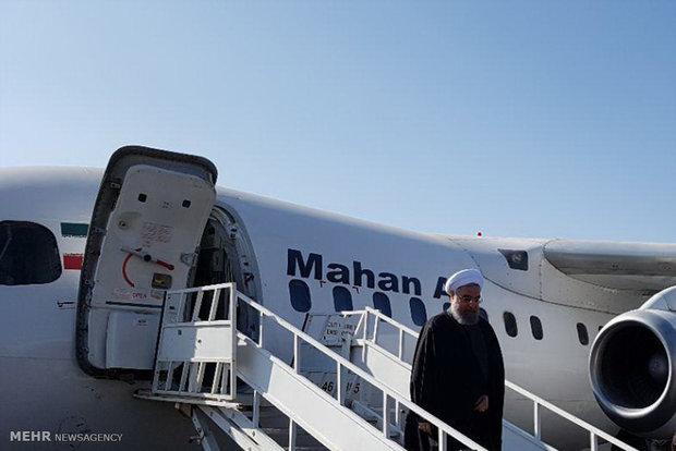 الرئيس روحاني في جولة تفقدية لمحافظة سمنان