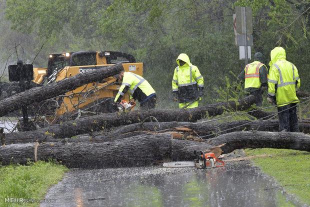 طوفان های شدید در جنوب شرق آمریکا