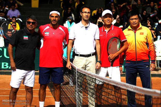 Davis Cup tennis tournament in Isfahan