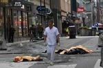 بالفيديو/الشاحنة التي صدمت المواطنين في استوكهلم