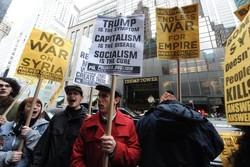 مردم نیویورک مقابل برج ترامپ تظاهرات کردند