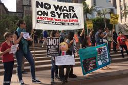 تظاهرات علیه حمله به سوریه در آمریکا