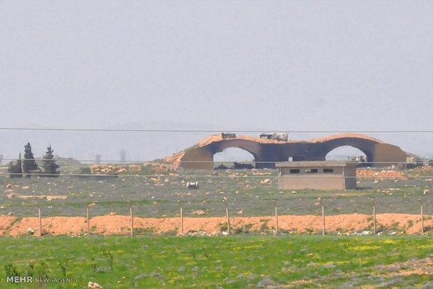 خسارات وارده به پایگاه هوایی ارتش سوریه