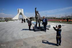 انعکاس - هوای سالم تهران هوای پاک تهران میدان آزادی سلفی