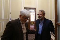 لاریجانی با عارف دیدار کرد