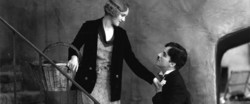 """Virginia Cherrill (L) and Charles Chaplin act in ascene from """"City Lights"""""""