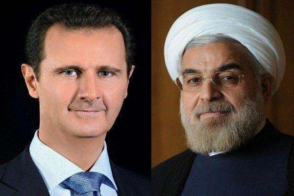 Ruhani ve Beşar Esad telefonda görüştü