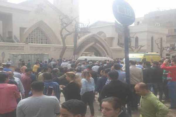 Explosion rocks church in Egypt's Alexandria on Palm Sunday