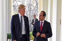 ترامپ بر حمایت از مصر در مقابل تروریسم تاکید کرد