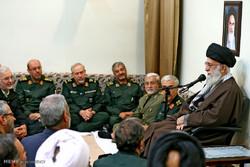 İnkılap Rehberi'nin silahlı kuvvetler komutanlarıyla görüşmesi