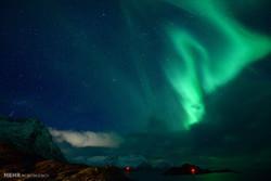 ناروے کے آسمان پر قطبی شفق