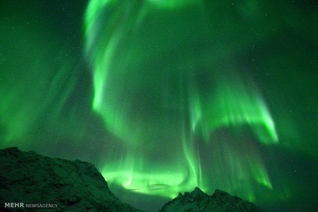 شفق قطبی در آسمان نروژ