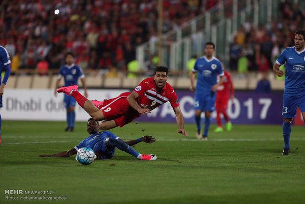 Perspolis ve Katarlı takım arasındaki maçtan kareler