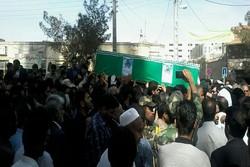مراسم تشییع پیکر شهید «روح الله عالی» در زاهدان برگزار شد