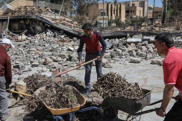 Musul Üniversitesi'ndeki hasarlar