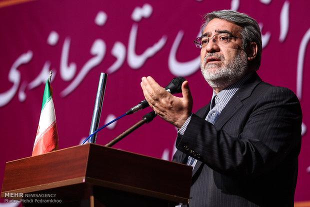 وزير الداخلية الايراني يأمر بعقد جلسة أمنية طارئة