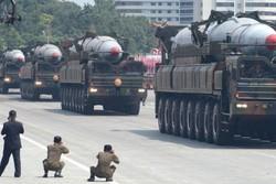 نمایش توانمندی موشکی پیونگ یانگ در رژه «روز آفتاب»