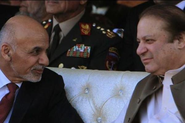نواز شریف نخست وزیر پاکستان و اشرف غنی رئیس جمهور افغانستان