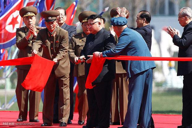 مراسم افتتاح ناطحات السحاب في كوريا الشمالية