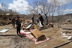 خسارات ناشی از وقوع سیل در روستای چنار آذربایجان شرقی