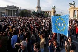 مردم مجارستان تجمع ضد دولتی برگزار کردند