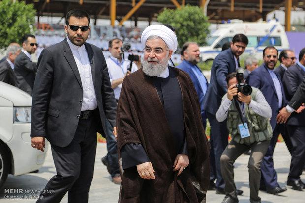 رئیس جمهور وارد استان هرمزگان شد