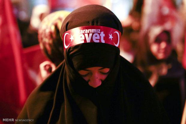 Türkiye'deki referandumdan kareler