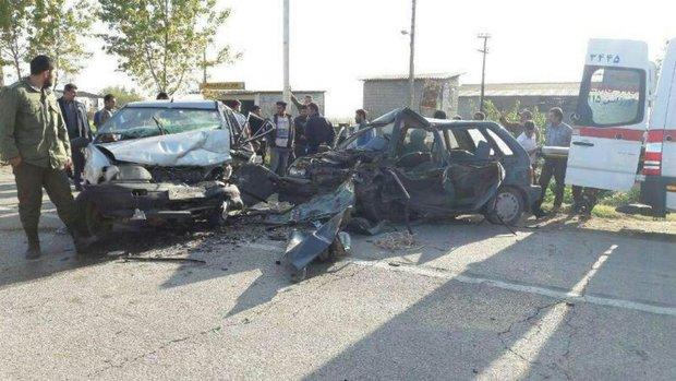 ٣ کشته در تصادف وانت و سمند