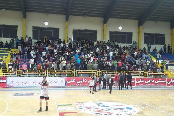 تماشاگران بسکتبال شهرداری گرگان