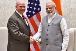 هربرت مک مستر مشاور امنیت ملی آمریکا و نارندرامودی نخست وزیر هند