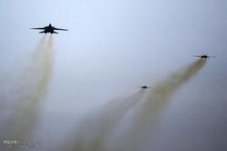 مانور هوایی جنگنده های پایگاه شهید بابایی اصفهان