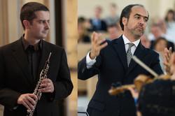 Italian oboe virtuoso Francesco Di Rosa and his violinist fellow Damiano Giuranna