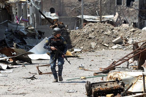 """مقتل 14 من """"داعش"""" وتدمير ثمانية آليات مفخخة في الموصل"""