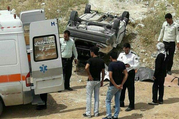 ۲ کشته در حادثه تصادف تریلی با سواری ۴۰۵ در یزد