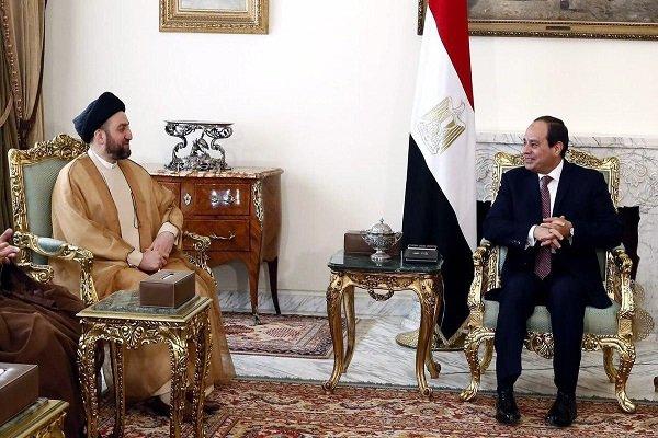 """الحكيم والسيسي يبحثان بناء """"تحالف إستراتيجي"""" بين العراق ومصر"""
